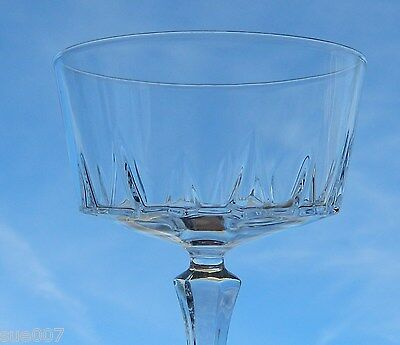 3 Cristal D'Arques Versailles Champagne Glasses Tall Sherbet Stemware Crystal
