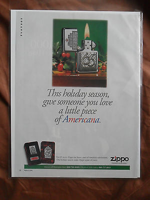1997 Print Ad Zippo Lighters 65 YEARS of INTEGRITY A piece of Americana