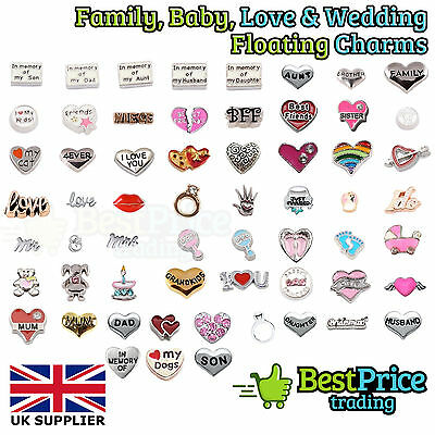 BEST QUALITY Floating Charm For Living Memory Locket *BABY FAMILY LOVE WEDDING