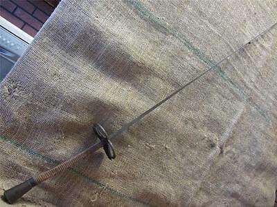 Vintage French Excelsior Fencing Sword Epie Antique Old Iron Brass Leather 9166