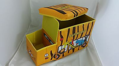 Large Kids Clothes Storage Seat Bedroom Stool Toys Books Box Chest Bus Boys Tidy