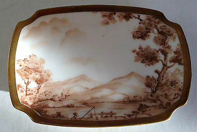 """Ashtray - Portugal - Moutain Scene with Fisherman 4 1/2"""" x 3"""" - Vintage"""