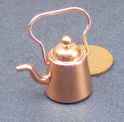 1:12 Scale Victorian Metal Copper Kettle Dolls House Miniature Kitchen Accessory