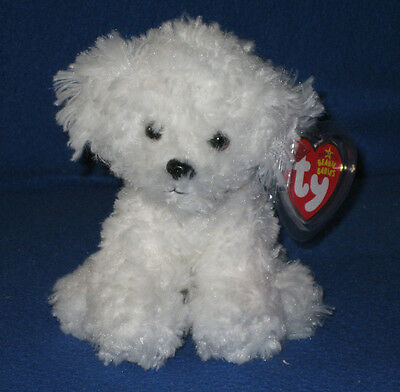 TY LOLLIPUP the BICHON FRISE DOG BEANIE BABY - MINT with MINT TAGS