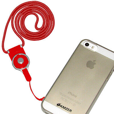 Amzer Detachable Cell Phone Neck Lanyard Red Essential Must Have Useful Gift