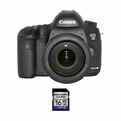 Canon EOS 5D Mark III DSLR Camera w/24-105mm Lens & 16GB SDHC Card