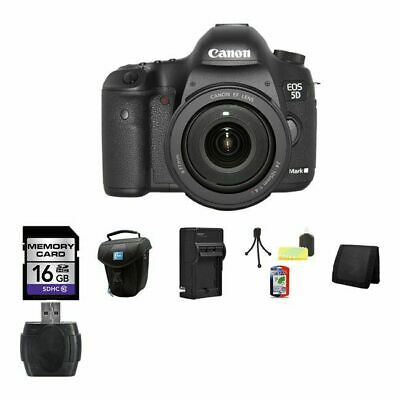 Canon EOS 5D Mark III DSLR Camera w/24-105mm Lens 16GB Package