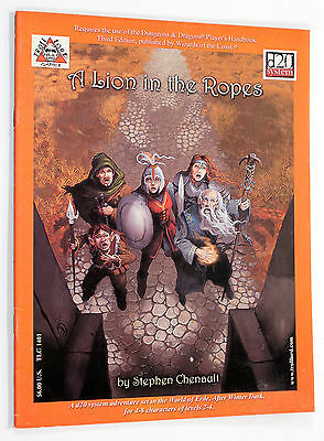 Troll Lord Games TLG-1401 A LION IN THE ROPES RPG D&D 3.0 Adventure