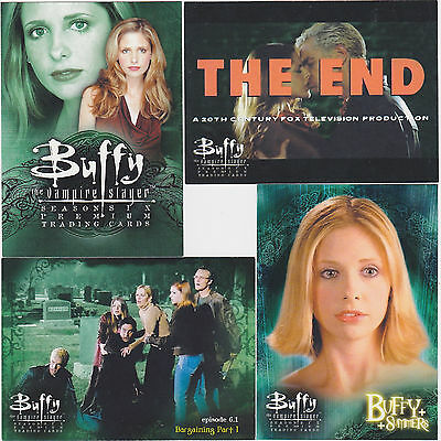 BUFFY THE VAMPIRE SLAYER FUTURE IS OURS 6 Card Insert Set BV $45 SEASON 3
