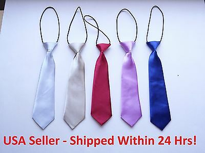 Boys Neck Ties – 24 Colors to Choose From - Buy 2, Get 1 FREE!