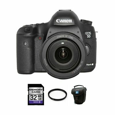 Canon EOS 5D Mark III DSLR Camera w/24-105mm Lens 32GB Full Kit
