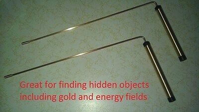 Pair of 99.9 %  PURE Copper dowsing rods with a ball bearing in each handle.