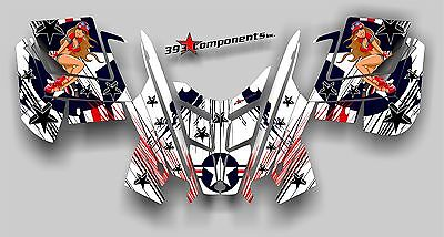 2010 - 2014 POLARIS PRO RMK - RUSH Decal Sticker Graphics Kit Aircraft Pinup