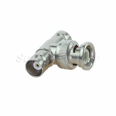 BNC Male To 2 BNC Female Coaxial Coax RG59 Camera Splitter Adapter T Connector