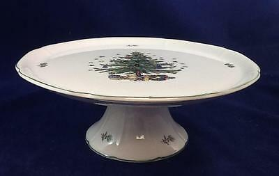 Nikko Happy Holidays Footed Cake Plate Pre-Owned Great Condition