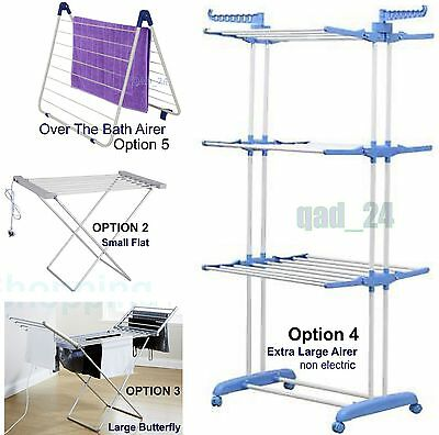 Airer Clothes Folding Towel Laundry Dryer Concertina Horse Indoor Outdoor Drier