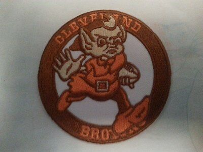 "Cleveland Browns Vintage Embroidered Iron On Patch Lot (Old Stock) 3"" x 3"" RARE"