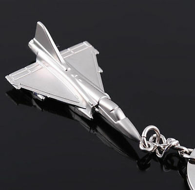 New 1 Pc Creative 3D Model Fighter Plane Key Chain Keyring Keyfob Keychain Gift