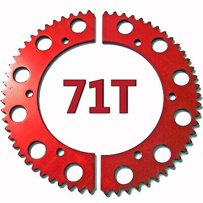 71T (tooth) #35 Chain Split Sprocket Racing Go-Kart Fun Cart Barstool Gear RLV