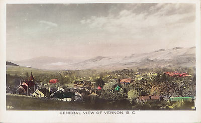 General View of VERNON British Columbia Canada Gowen Real Photo Postcard 29