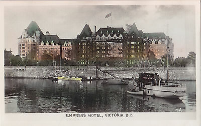 Empress Hotel VICTORIA British Columbia Canada Gowen Real Photo Postcard 13A