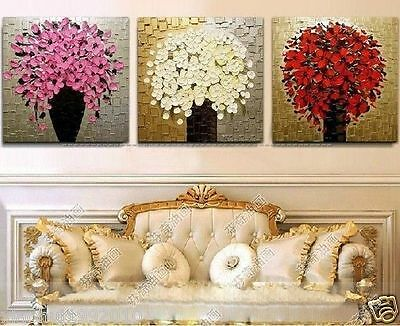 3pc modern abstract huge wall canvas hand-painted oil painting withou(no frame)