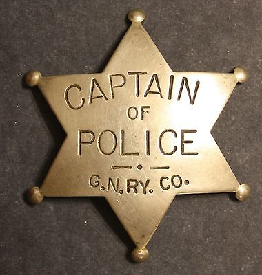 GREAT NORTHERN RAILWAY CAPTAIN OF POLICE BADGE