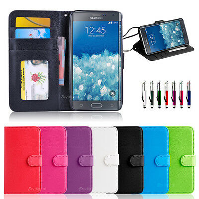 NEW Leather ID Wallet Case Cover for Samsung Galaxy Note Edge
