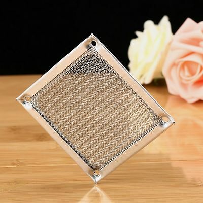 PC Computer Cooling Fan Dustproof Aluminum Filter Mesh Guard Cover Strainer 80mm
