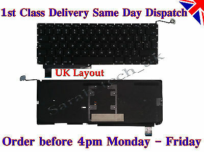 "New Genuine Macbook Pro 15"" A1286 UK Laptop Keyboard with backlit Backlight"