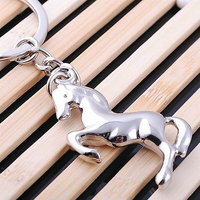 Steed Horse Keyring Keychain Classic 3D Pendant Key Bag Chain Creative Gift