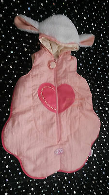 "Baby annabell Doll clothes cute padded sleeping bag for 18"" doll"
