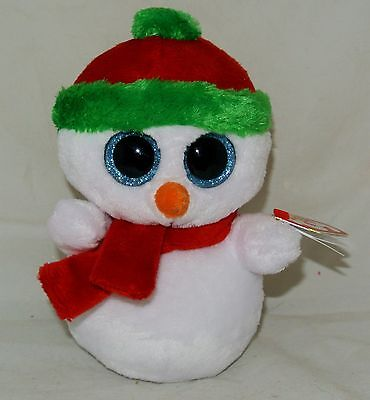 "~2013  TY Beanie BOOS ""SCOOPS"" the Snowman~ 6"" size Retired Rare & hard to find"