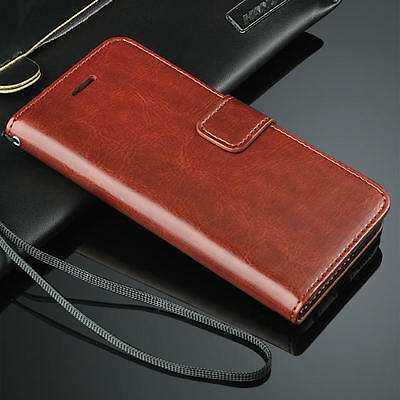 For iPhone XS XSMax XR 4 5 6S 7 8Plus Genuine Leather FlipWallet Phone CaseCover
