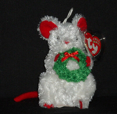 TY GARLANDS the MOUSE JINGLE BEANIE BABY - MINT with MINT TAGS