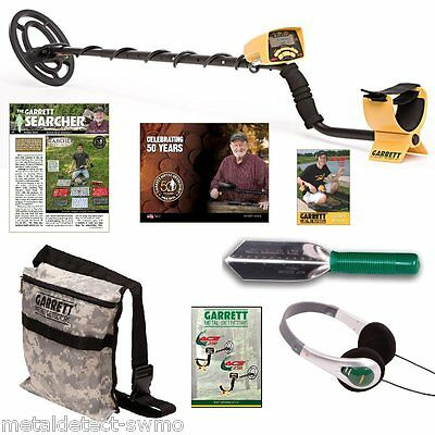 New Garrett ACE 250 Metal Detector w/ Stainless Digger Camo Pouch and Headphones