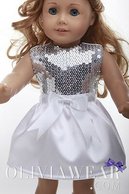 American girl doll clothes handmade dress Party Collection #6 Fits 18 inch Dolls