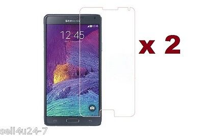 2 x HD CLEAR SCREEN PROTECTOR for Samsung Galaxy Note 4 retail pack