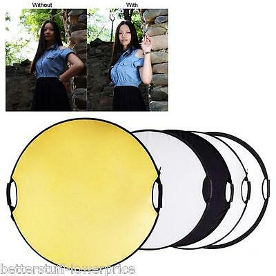 """43"""" 110cm 5 in 1 Photography Studio Multi Photo Disc Collapsible Light Reflector"""