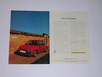 Renault Clio 16 Valve Advert from 1992 - Original - 16v