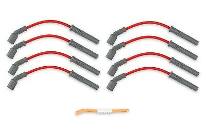 "MSD Ignition 32829 8.5mm Red Spark Plug Wires 5.3/6.0 Truck Engines 12"" Long"