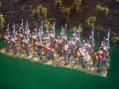 28mm A+ ptd Napoleonic English line late marching yellow *24