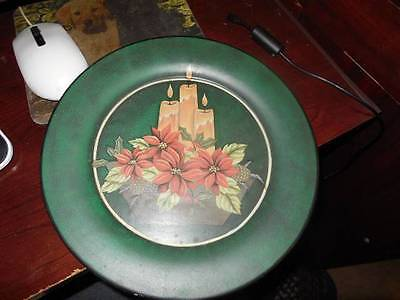 CHRISTMAS PLATE PRIMITIVE NICE HANGING PLATE OR TABLE TOP