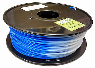 3D Printer Magic Heat Colour Change Filament - Blue to White - ABS & PLA