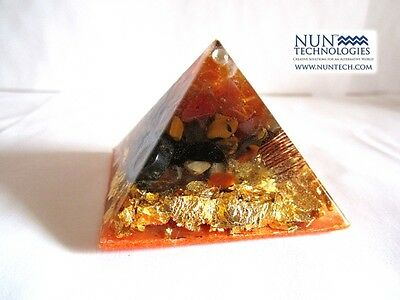 Orgone Crystal Healing Pyramid For Self Confidence and Will Power!
