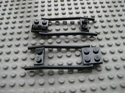 2 2x8x2//3 Dark Gray 2 Bar Rise Horse Wagon Hitch Bricks ~  Lego  ~ NEW ~