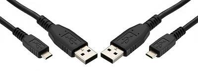 2X Lot Micro USB Data Sync Charger 2 in 1 Cable Cord USB 2.0 For Kyocera Phones