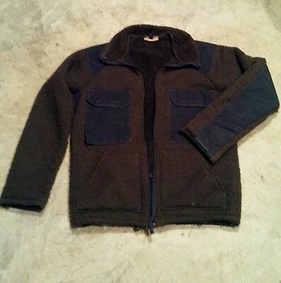 USGI Military brown fleece ECWS jacket (bear fur top) Medium