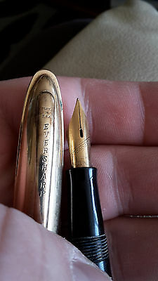 RRR Rare old American EVERSHARP 1/10 fountain-pen 14 k Y.G.P. USA