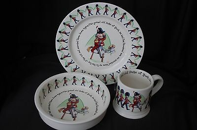 Duke of York Plate, Cup, Bowl Anderton Pottery